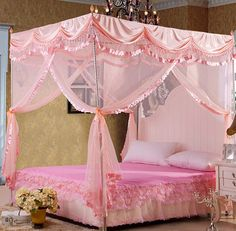 Cheap canopy netting for beds, Buy Quality canopies bed directly from China bed book Suppliers: High quality mosquito net bed canopy curtains palace mosquito net three-door luxury bed canopy with stainless stee