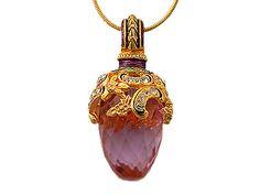 Faberge Pendants - Faberge Eggs - Fabergè Enamel Jewelry