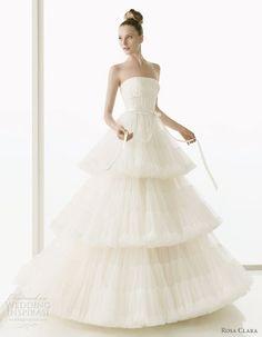 Blog OMG - I'm Engaged! - Vestido de Noiva estilo princesa. Rosa Clará princess style wedding dress.