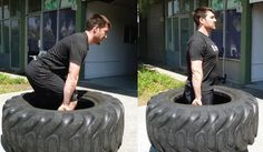 The Best 5 Tire Exercises & Workouts for Building Strength is part of fitness - Tire exercises offers a unique experience that should be considered in most strength and conditioning programs where power generation is a necessity Tire Flipping Workout, Tire Workout, Dead Lift Workout, Workout Fitness, Outdoor Gym, Outdoor Workouts, Gym Workouts, At Home Workouts, Backyard Gym