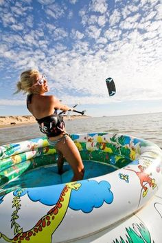 hahaha got to give this a go  Make sure to check out http://www.talic.com for the best kiteboarding storage rack