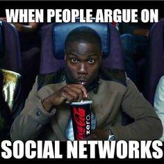 .social networks kevin hart meme