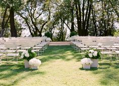 Simple, clean, white ceremony.