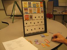 Vending vocational task. More great ideas in Table Top Tasks at LuLu.com