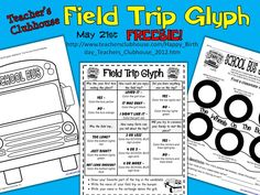 Happy 5th Birthday, Teacher's Clubhouse! Visit http://www.teachersclubhouse.com/Happy_Birthday_Teachers_Clubhouse_2012.htm on May 21 for this Field Trip Glyph FREEBIE!