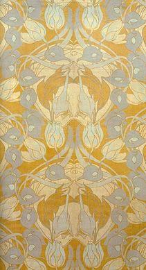 Eugène Gaillard (1862-1933) - Textile. Printed Cotton Velveteen. Circa 1900.