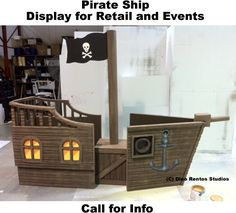 Custom Made Big Giant Foam Props - Sculptures. Made to Order Prop Maker display retail trade show film movie theater play decoration - Dino Rentos Studios, INC. Pirate Party Decorations, Diy Halloween Decorations, Pirate Birthday, Pirate Theme, Pirate Ship Wheel, Pirate Ships, Cardboard Pirate Ship, Vbs Themes, Classroom Themes