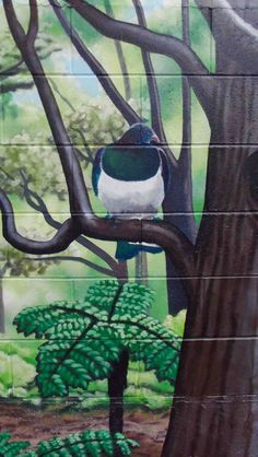 "WCC Housing, Central Park Flats ""Garden Mural"" 27 Brooklyn Road, Te Aro, Wellington.  Kereru"