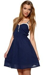 Blue dress with white line. Perfect for summer!