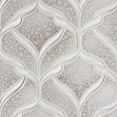 Encore Ceramics | Belvedere mosaic hand-glazed in Gimlet jewel, with dimensional ribbons in Bianca matte | Sustainably made in Oregon