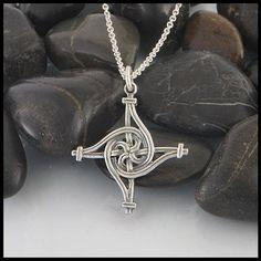 Saint Brigid Cross in Sterling Silver, 2 Size Options Tribal Tattoos, Tattoos Skull, Wing Tattoos, Zodiac Tattoos, Sleeve Tattoos, Geeks, St Brigid Cross, Brigid's Cross, Silver Celtic Rings