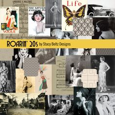 The Roarin 20s were the years of the Flapper, automobiles, and jazz. This journal kit has images of 1920s life with fashion, automobiles, sheet music, and magazine covers. Its perfect for a 20s themed spread or journal!  Roarin 20s PDF Printable 5 Mini File folders and Envelopes 21 Journal cards featuring images and ephemera from the 1920s 10 Vintage art deco patterned papers   This is a print ready PDF. All you have to do is print and cut! Content created by Stacy Beltz  Contact me for a…