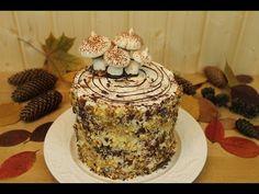 """Сметанный торт """"Трухлявый пень"""" - YouTube"""