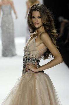Evening gown, couture, evening dresses, formal and elegant Beautiful gown in champaign