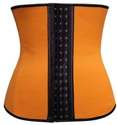 37063078133 Pandolah Sport Latex Steel Boned Compression Waist Training Cincher XS-6XL  at Amazon Women s Clothing store