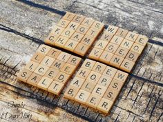 Put a creative spin on your love for word play with these Scrabble-inspired DIYs. >> http://www.hgtv.com/design-blog/design/celebrate-national-scrabble-day-with-scrabble-tile-crafts?soc=pinterest