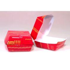 Envase genérico de cartón alimentario para hamburguesa en forma de concha, diferentes tamaños a elegir. Calidad cartón: Alimentario - 300 gr/m2 http://www.ilvo.es/es/product/envase-hamburguesa----ref-800-4555
