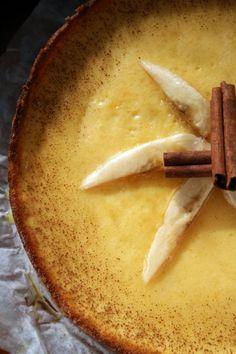 Тарт с карамелизироваными бананами и йогуртовым кремом : Торты, пирожные