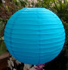 Create a magical atmosphere with affordable Turquoise Round Even-Ribbing Paper Lanterns from the Paper Lantern Store. Paper Lantern Store, Paper Lantern Lights, Paper Lanterns, Blue Ombre, Playroom, Wedding Decorations, Turquoise, Holiday Decor, Party