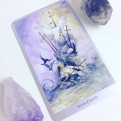 Daily #Tarot Reading for October 14: Seven of Swords When you're taking what you can carry and leaving the #battle behind you you're embodying the #archetype of the Seven of Swords. The figure in this card is stealing five swords but leaving two behind their points firmly rooted in the ground. He wears the #mask of a thief. This indicates that in a current situation you may need to take the resources you have and #retreat in order to save yourself. You may have to leave a few things behind…