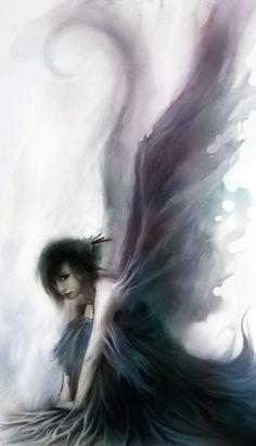 35 New Ideas For Fantasy Art Girl Beauty Dark Angels Dark Angels, Angels And Demons, Fallen Angels, Fantasy Kunst, Fantasy Art, Dark Fantasy, Magical Creatures, Fantasy Creatures, Belle Image Nature
