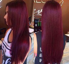 - All For Hair Color Trending Burgundy Hair Dye, Maroon Hair, Plum Hair, Dyed Red Hair, Gorgeous Hair Color, Red Hair Color, Pelo Color Vino, Red Hair Inspo, Hair Color Underneath