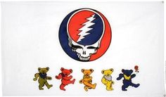 3'x5' GRATEFUL DEAD FLAG, deadhead garcia poster bong jerry tapestry bear skull by .. $19.99. 3'x5' 100% POLYESTER FLAG w/GROMMET STRIP FOR ATTACHING TO POLE.