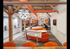 The Las Vegas, Nevada, etailer installed this UFO-inspired conference room in the center of its courtyard. The structure can be reserved for meetings.More Zappos photos.Photo courtesy of Glassdoor.  10 Cool Office Spaces - pg.1