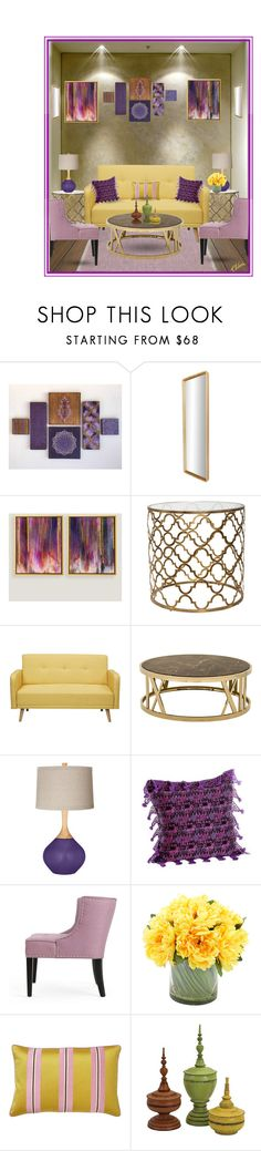 """""""Gallery Wall"""" by chileez ❤ liked on Polyvore featuring interior, interiors, interior design, home, home decor, interior decorating, Axel, Cost Plus World Market, NOVICA and Creative Displays"""