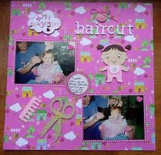 Image result for first laugh scRApbook pAGE layout