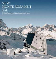 The new Monte Rosa lodge project (also referred to as the Monte Rosa Hut) demonstrates that sustainable building is possible even in the middle of a glacial landscape.
