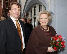 La reina Beatriz de Holanda y el príncipe Friso Orange-Nassau.