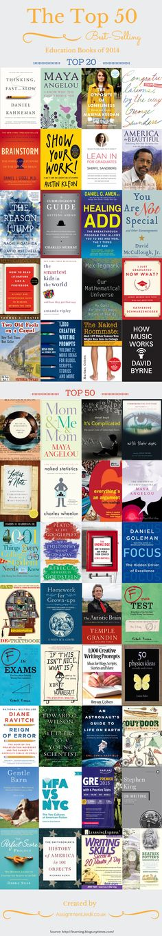 The Top 100 Best-Selling Education Books of 2014 http://assignmentjedii.co.uk/ #education #books