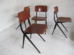 Dutch Industrial Chairs by Ynske Kooistra for Marko, 1960s, Set of 4 6