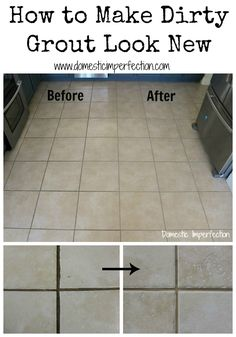 Paint and seal your dirty old grout in one simple step! So easy, so cheap...must try!