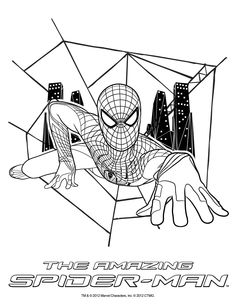 Coloring sheet!  THE AMAZING SPIDER-MAN, in theatres July 3, 2012!