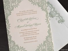 East Six: Wedding Invitations New York Lace Invitations, Vintage Wedding Invitations, Invitation Ideas, Birthday Invitations, Invites, Sage Green Wedding, Pink And Gold Wedding, Grecian Wedding, Wedding Happy