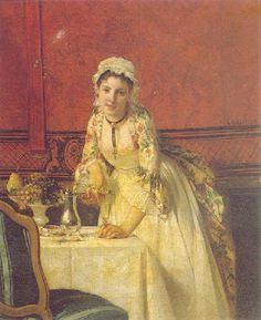 La jeune soubrette by Charles Désiré Hue Art Of Beauty, Global Art, Art Market, Hue, 18th Century, Maids, Prints, Painting, French