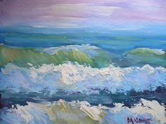"Pastel Sea by Carol Schiff | $100 | 10""w x 8""h | Original Art | http://www.vangoart.co/carolschiffstudio/pastel-sea @VangoArt"