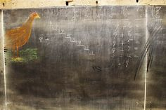 Chalkboard drawings from 1917 found in Oklahoma City.(2015)