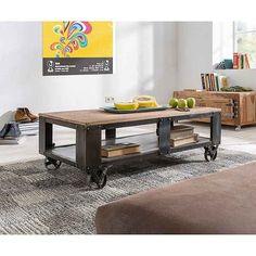 Couchtisch Colombe 120x80cm Sheesham Natur Mit Ablage | Wohnzimmertisch |  Pinterest | Ablage, Couchtische Und Natur