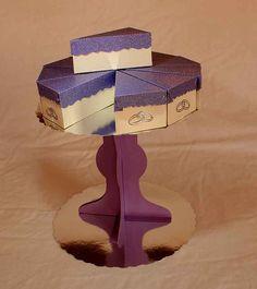 Cake slices favours including display stand SVG Digital by SVGHUT, £2.50