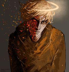 Македонский. Дракон, который работал ангелом и его это достало. Рисунок (с) Makedonskiy Quiet