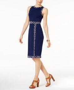 MICHAEL Michael Kors Petite Faux-Wrap Sheath Dress   macys.com