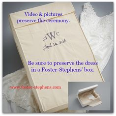 Our packaging is superior for life long protection against the elements. Foster… Our packaging is superior for life long protection against the elements. Foster-Stephens' has been caring for your memories for 80 years! Wedding Dress Preservation, Ring Pillow, Preserves, The Fosters, Packaging, Cards Against Humanity, Memories, Box, Life