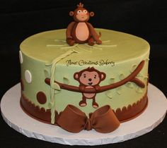 Monkey Baby Shower Cake | Flickr - Photo Sharing!