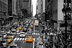 Black and white with color new york taci photography
