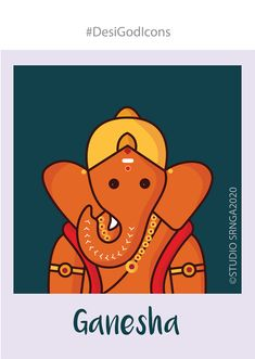 Indian Gods Experimentation on Behance Arte Ganesha, Lord Ganesha, Shri Ganesh, Ganesh Idol, Ganesha Drawing, Easy Art For Kids, Drawing Competition, Indian Art Paintings, Abstract Paintings