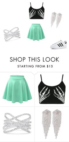 hey by roxie-deen on Polyvore featuring mode, Boohoo, LE3NO, adidas, Effy Jewelry and sweet deluxe