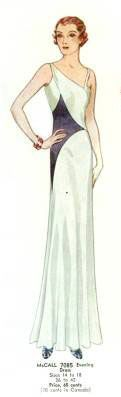 McCall 7085 | ca. 1932 Evening Dress